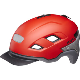 KED Berlin Casco, red/grey matte